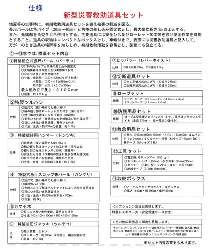 災害救済道具セット項目